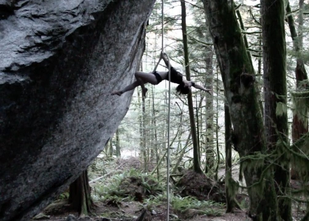 Aerial Rope Performance by Elise Ebner Squamish BC